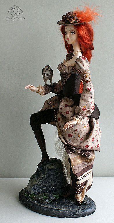 Коллекционные куклы ручной работы. Охотница. Диана.. Анна Фадеева. Ярмарка Мастеров. Амазонка, бисер чешский