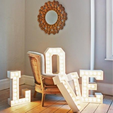 These spectacular metal letter lights have an array of LED bulbs which offer show-stopping style. Each letter has a standard UK plug and a s...