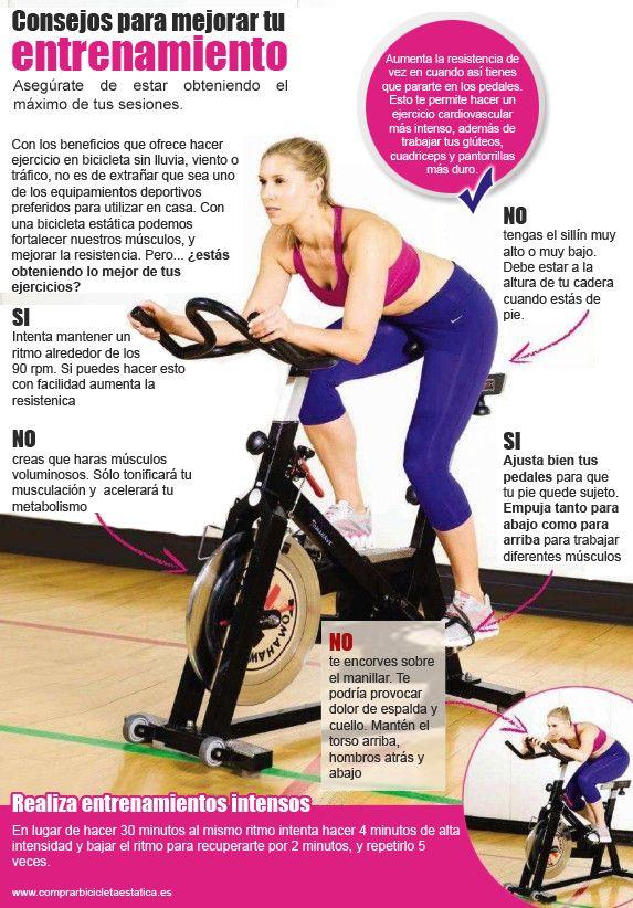 Ejercicios para bajar de peso con spinning