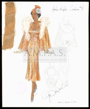 Costume design drawing from Harlem Nights | Fashion and ...