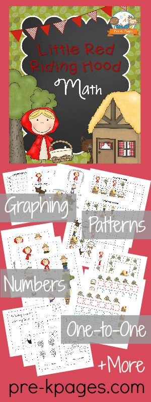 Little Red Riding Hood Printable Math Activities for Preschool and Kindergarten