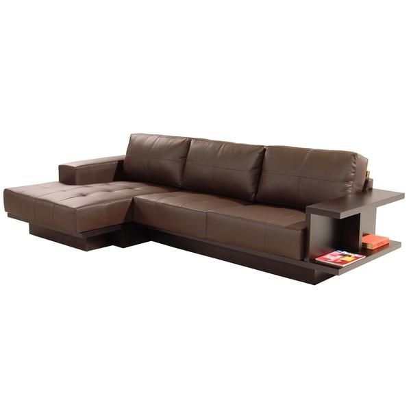 Trinity II Brown Corner Sofa w/Left Chaise