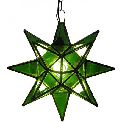These handmade hanging tin and glass stars from Mexico are the ultimate accent to your rustic or southwestern decor!  The various glass plate finishes are absolutely stunning when illuminated and glow from every angle.  Hang one in any room of your home for unique decorative lighting.  Available in small and large sizes below.