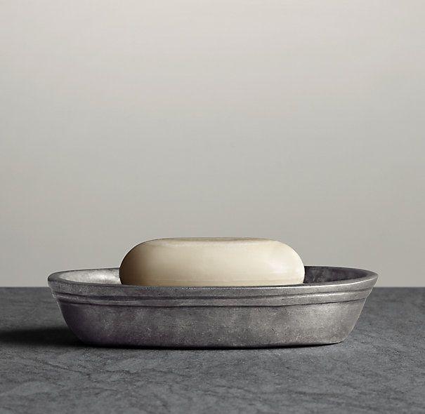 Apothecary Pewter Soap Dish Decor Farmhouse Bathroom