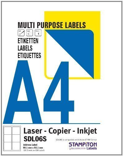 100 A4 Sheets (2700 Labels) Address / Barcode Labels By Ofa Products (suitable For Amazon Fba Stickering) 27 Labels Per Page 63.5 X 29.6 Mm