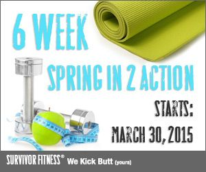 The 6 week Spring Fitness Challenge Starts March 30th!  6 weeks of bootcamp for the price of 4          http://bit.ly/1FJ8pgo