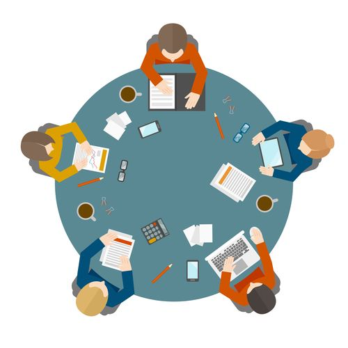 Round table meeting png - 25 Best Business Illustration Ideas On Pinterest