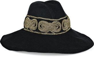 ShopStyle: Roberto Cavalli Embroidered velvet hat