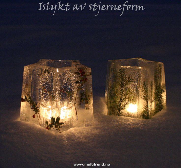 Islykter med tyttebær og granbar. Stjerneform kan kjøpes her: http://www.multitrend.no/Islykt--NICE-islyktform/cat-c/c1000086 #islykt #icelantern