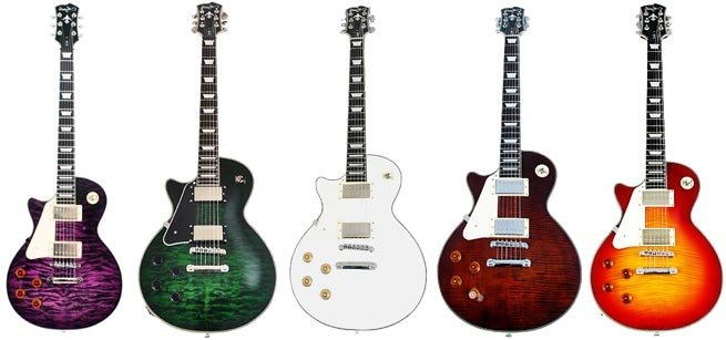 Colorful Les Paul Guitars