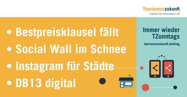 Immer wieder TZonntags 11.1.2015: Direktvertrieb bestätigt, DB13 digital, Social Wall im Schnee, Instagram für Städte, Technik-Reise-Trends