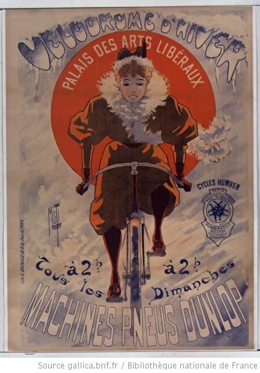 Vélodrome d'hiver. Palais des arts libéraux (cycles Humber) à 2h tous les dimanches (machines pneus Dunlop) : [affiche] / [Misti]