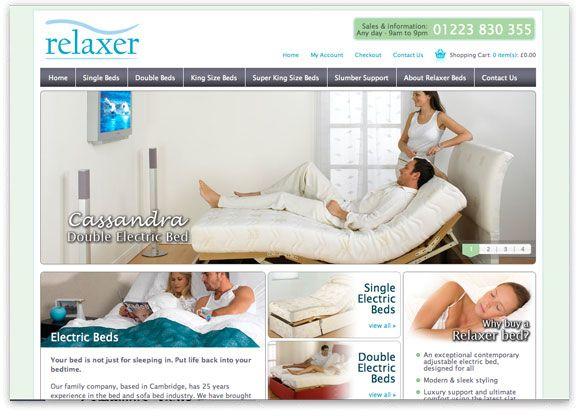 E-Commerce Website Design for Relaxer Beds