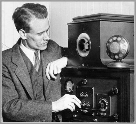 Electronic TV System:  California Landmark 941 commemorates Philo Taylor Farnsworth's laboratory where the first television image was transmitted in 1927.