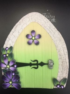 Magical Fairy Doors with Purple Flowers