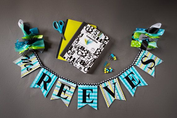CLASSROOM DECORATION / Teacher Name Banner / by SweetGeorgiaSweet