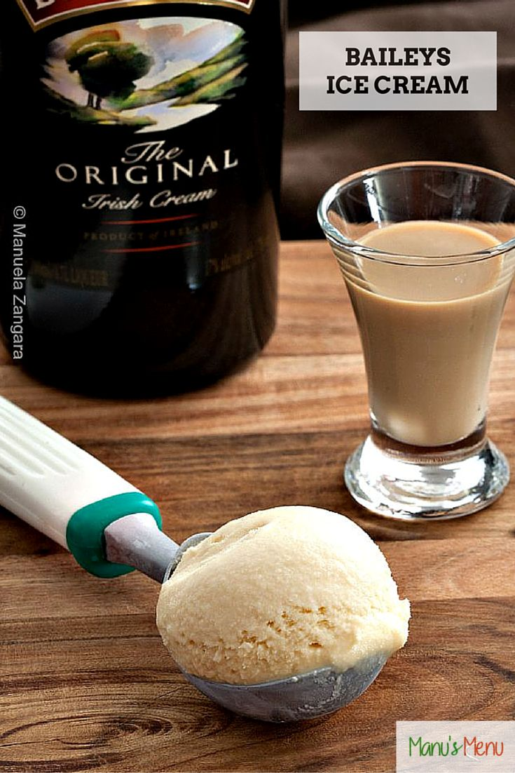 A creamy Baileys ice cream that you can make with or without an ice cream maker.