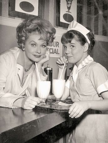 Lucille Ball with daughter Lucie