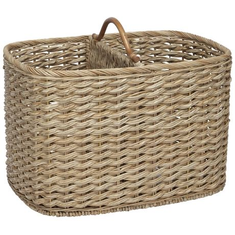 Maine Double Magazine Basket | Freedom Furniture and Homewares