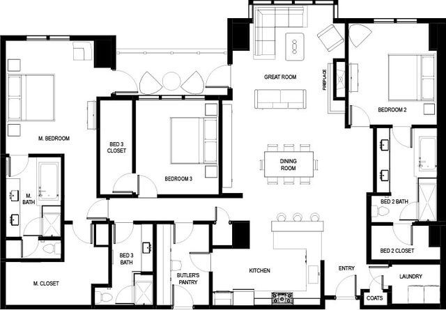 High-Rise Condo Floor Plans Live at The Landmark Future Home - copy tucson blueprint building
