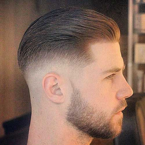 Cool Mens Faded Hairstyle Side