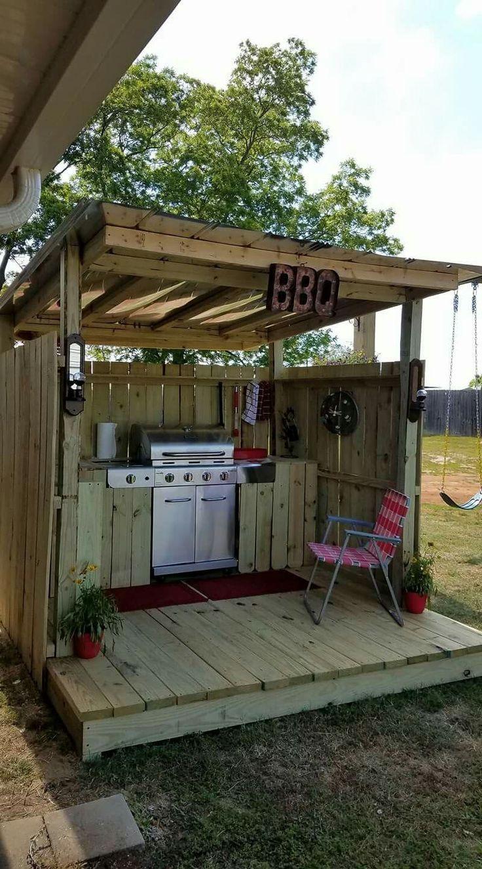 Nette Idee für eine Outdoor-Dosen-Küche (Subpropan-Kochfeld für Grill).