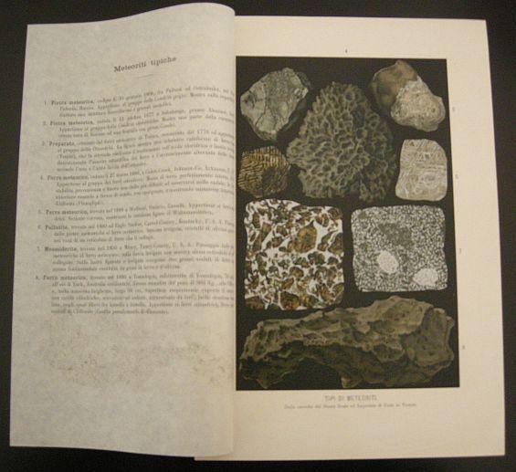 Tipi di meteoriti. s.d. (ma 1900). Astronomia - Meteoriti - Corpi celesti - Universo - Spazio - Stampa - Scienza -  -