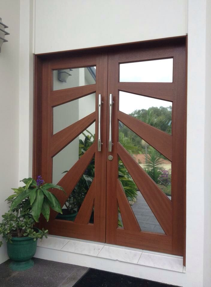 Timber doors With Reflective Suntek Window solar Film Full Daytime Privacy http://www.kingoftint.com