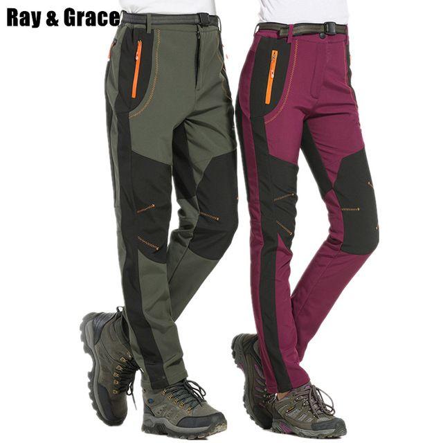 Ray Grace Men S Waterproof Trekking Pants Winter Outdoor Pants Men Fleece Hiking Hunting Fishing Mountain Trou Best Hiking Pants Outdoor Pants Waterproof Pants