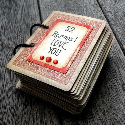 """52 Reasons I Love You"" cards.: Valentines Ideas, Gifts Ideas, Love Cards, Anniversaries Gifts, Cute Ideas, Valentines Gifts, Valentines Day Gifts, 52 Reasons, Plays Cards"