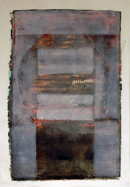 Faded Memories -Karen Darling, oil and cold wax on paper