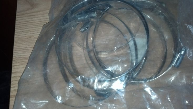 """Hose Clamps in BeckyWes' Garage Sale in Luck , WI for $30.00. Set of 10 Hose Clamps, Type 316. 3 1/2"""" to 5"""". Still in bag with tags."""