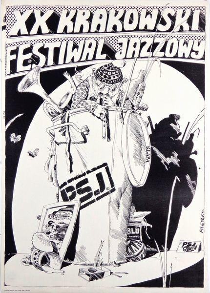 20th Cracow Jazz Festival XX Krakowski Festiwal Jazzowy Mleczko Andrzej Polish Poster