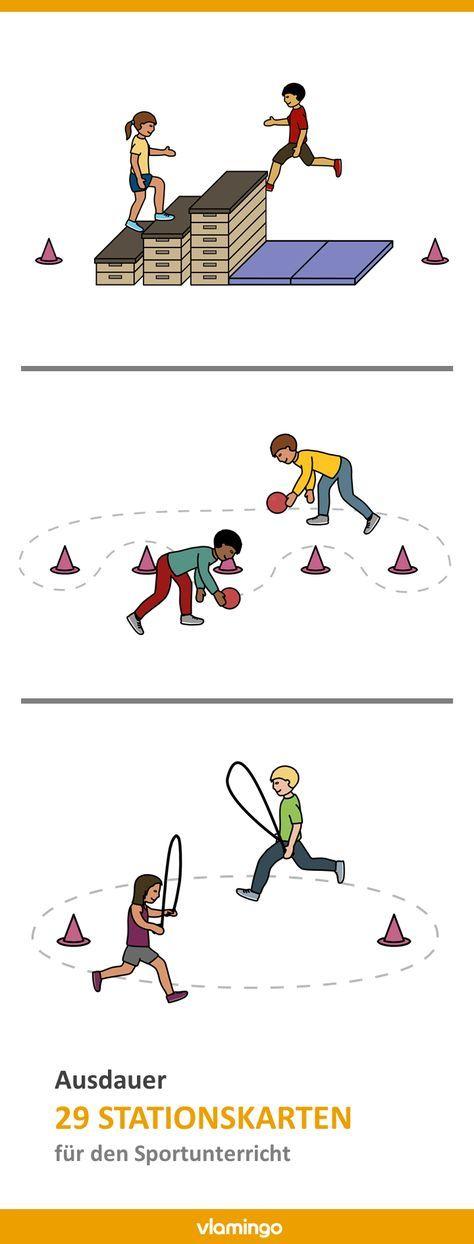 Ausdauertraining – 29 Stationen bzw. Übungen für den Sportunterricht