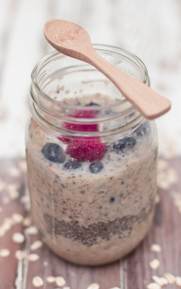 Overnight Quinoa & Blueberry Oatmeal [How amazing does this look? Fun (and easy!) way to have #FairTrade quinoa for breakfast!]: Blueberry Oatmeal, Quinoa Oatmeal, Oatmeal Quinoa, Blueberries Oatmeal, Overnight Quinoa, Overnight Oatmeal, Quinoa Overnightoat, Overnight Blueberries, Oatmeal Vegans