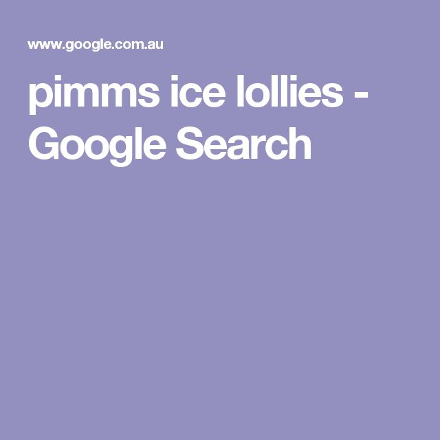 pimms ice lollies - Google Search