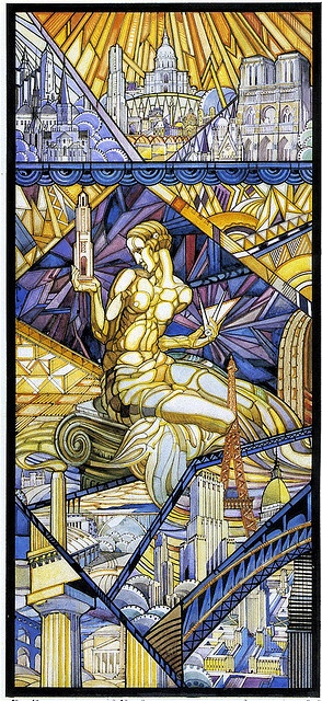 Design for Stained Glass by Ernest Cormier by colros, via Flickr