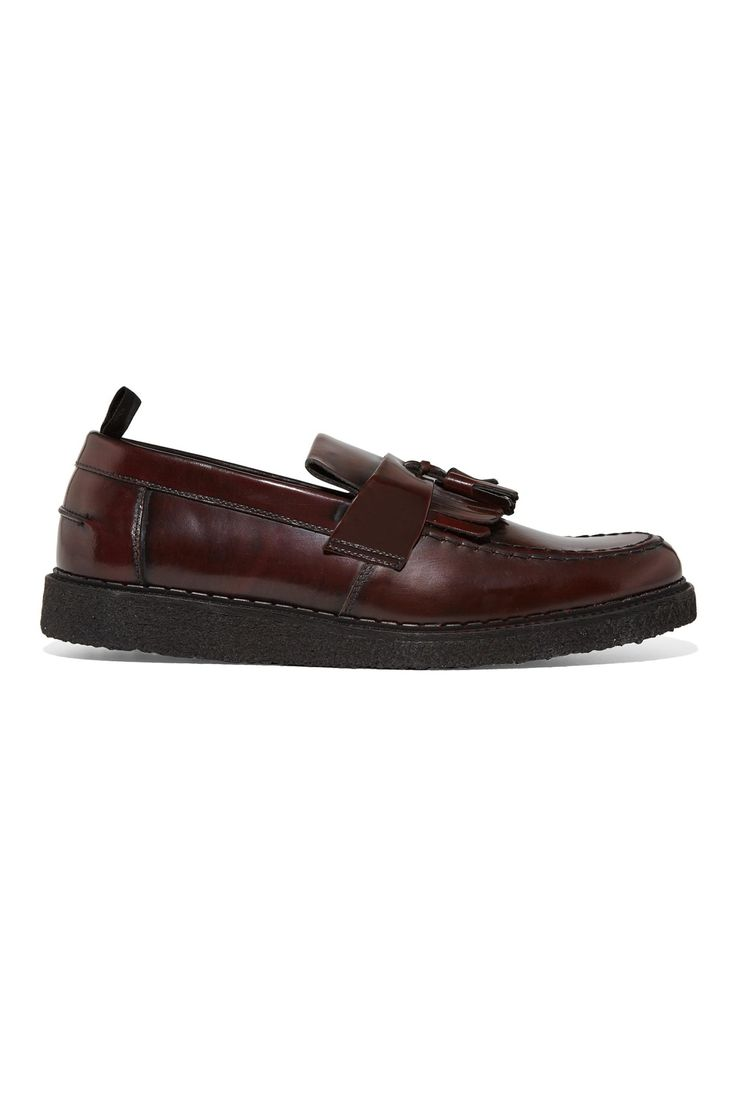 online store f639e b9ce0 ... чисто британский альянс  black creeper george cox  Fred Perry - Fred  Perry x George Cox Tassel Loafer Ox Blood ...