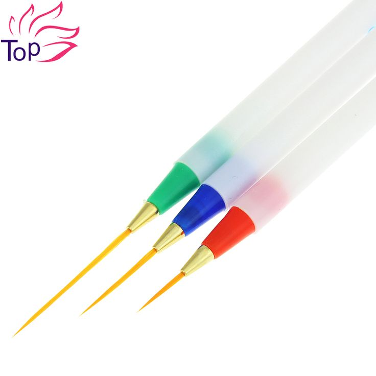 3 Pcs/Lot 3D Drawing Nail Art Liner Striping Brush Gel Pens Diy Painting Tools For Manicure Nails New Professinal Home Use JH299