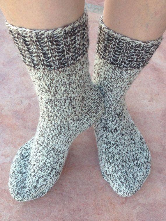 Wool hand knitted socks women size 8-9 boots socks , wool socks, camping socks, hiking socks.