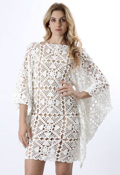 MADE TO ORDER  Crochet Dress  custom made hand made by Irenastyle, $650.00