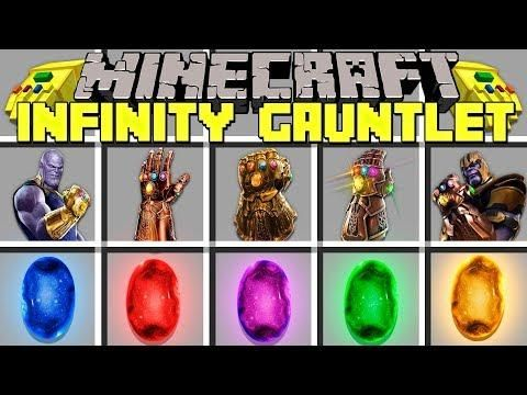 Minecraft INFINITY GAUNTLET MOD L COLLECT ALL INFINITY