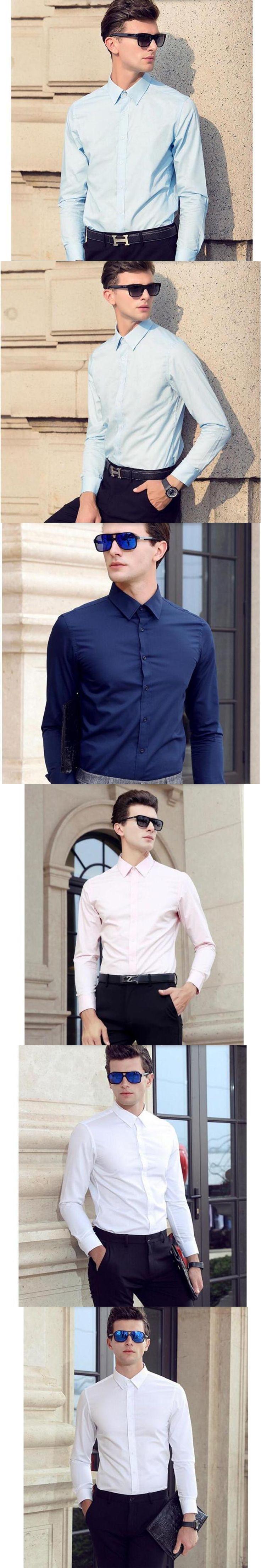 Custom made men shirt good quality handsome groom shirt white Comfortable and soft men formal shirt long sleeve