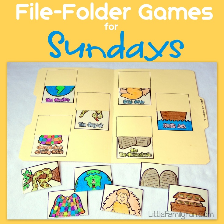 Little Family Fun: File Folder Games: Sundays (would be helpful for during worship time)