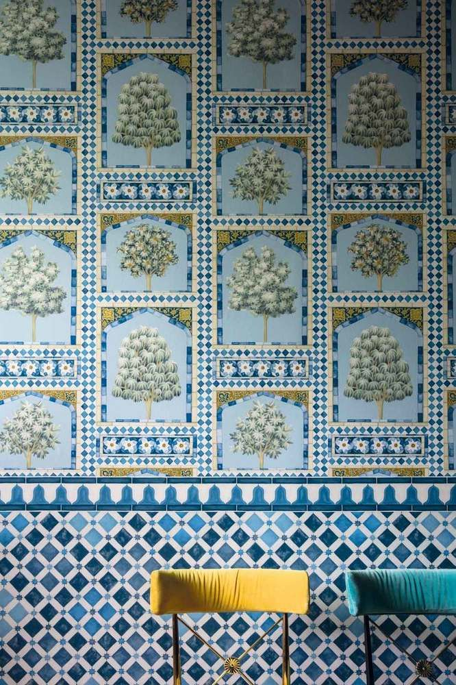 Zellige China Blue Cole And Son Cole And Son Wallpaper Martyn Lawrence Bullard