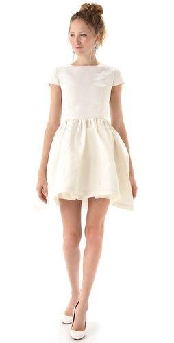 :: um VERY wishful thinking...but this is adorable ::: Ermilio Petticoats, Petticoats Teas, Bridal Showers Dresses, Rehearsal Dinners Dresses, Rehear Dinners Dresses, Ermilio Dresses, Little White Dresses, Teas Dresses, Katy Ermilio