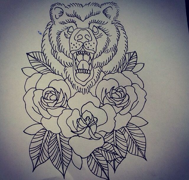 Cute for california bear and roses | Traditional bear ...