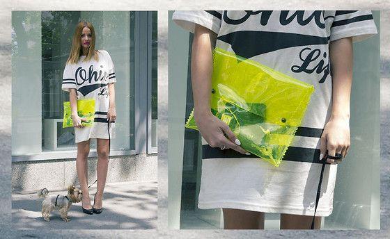 Bershka Transparent Clutch, Primark T Shirt Dress