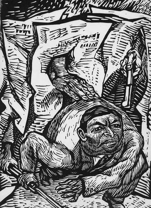 Alfredo Zalce. EL TRAIDOR SATURNINO CEDILLO, AGENTE DE LAS EMPRESAS PETRO- LERAS. l938  Alentado por los intereses capitalistas extranjeros, Saturnino Cedillo se levantó en armas en 1938 y se internó con unos cuantos hombres en la sierra potosina. Cárdenas recibió la adhesión unánime del pueblo, de las instituciones y del Ejército y en poco tiempo fueron sometidos al orden las rebeldes cedillistas. El cabecilla de la frustrada rebelión murió en un encuentro contra las fuerzas federales.