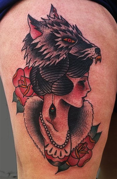1000 ideas about wolf girl tattoos on pinterest girl tattoos indian head tattoo and tattoos. Black Bedroom Furniture Sets. Home Design Ideas